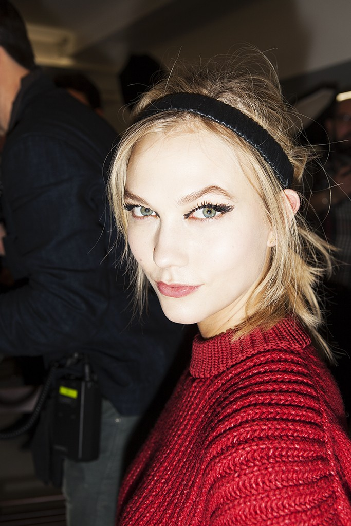 FENDI FW 2015 BACKSTAGE BEAUTY KARLIE KLOSS