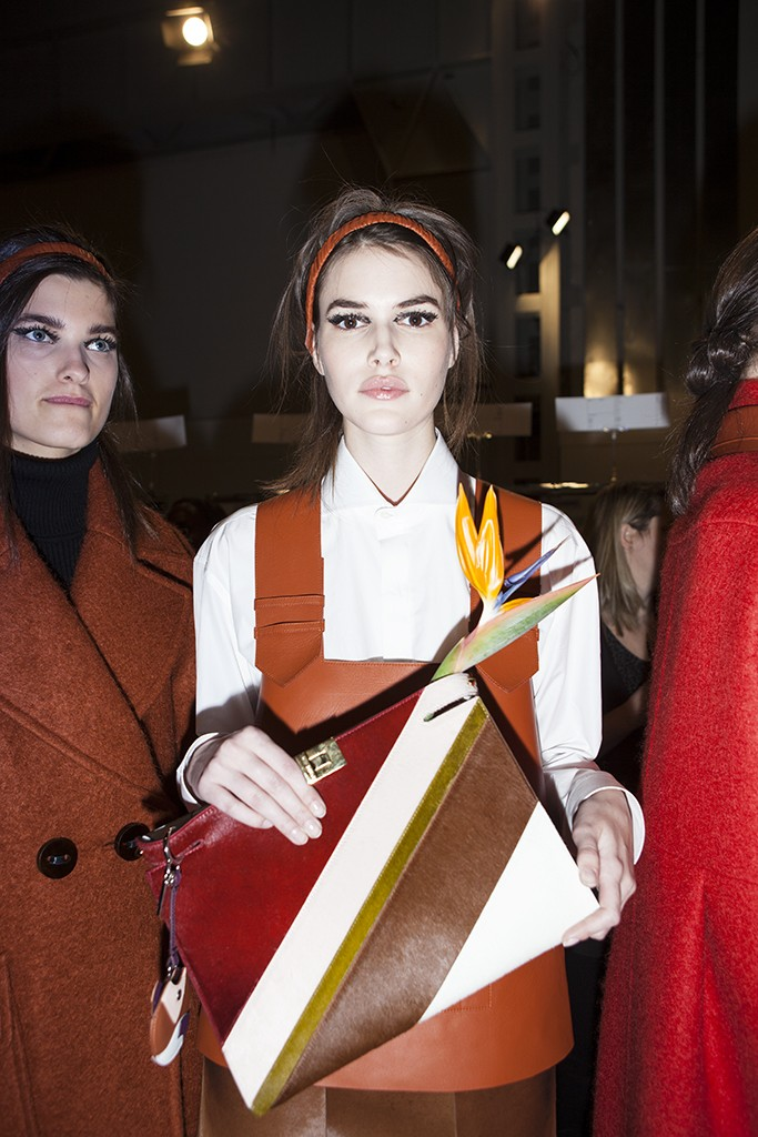FENDI FW 2015 BACKSTAGE BEAUTY