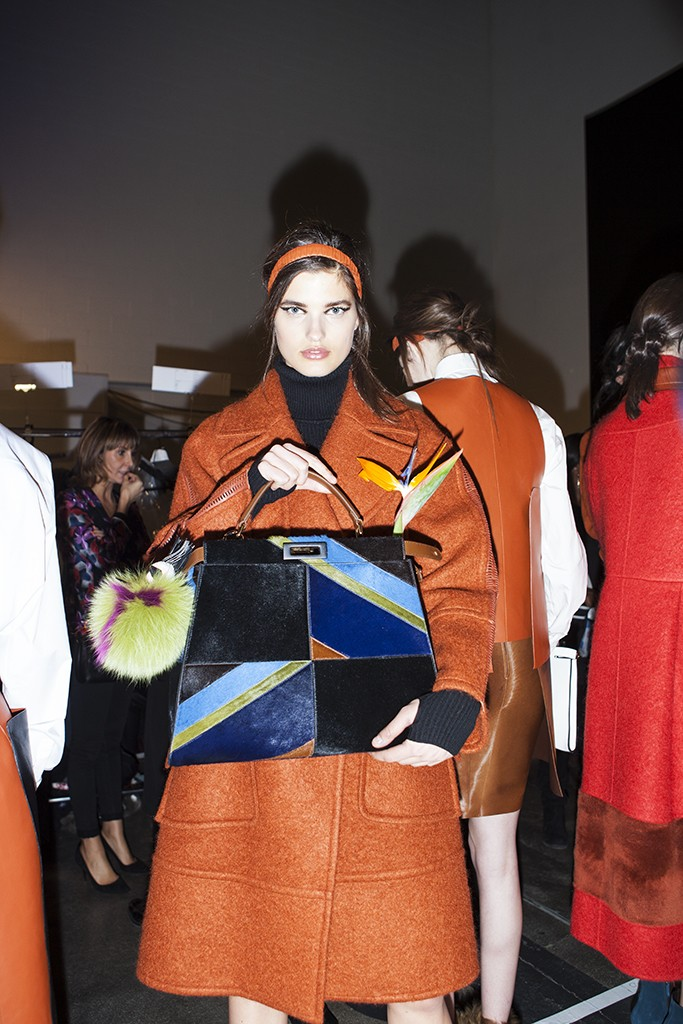 FENDI FALL-WINTER 2015 BACKSTAGE BEAUTY