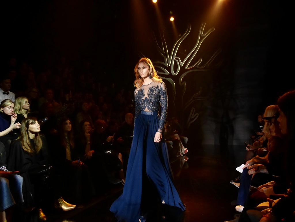 ELIE SAAB FW 2015 PARIS FASHION WEEK EXCLUSIVE RUNWAY COVERAGE FRANK PERRIN KARLIE KLOSS