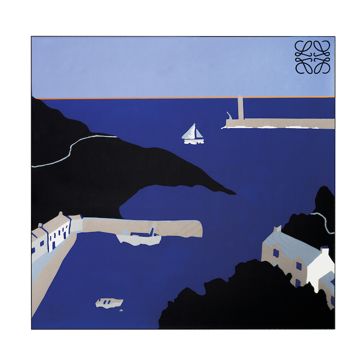 Scarf inspired by John Allen Cornish Harbour - Loewe