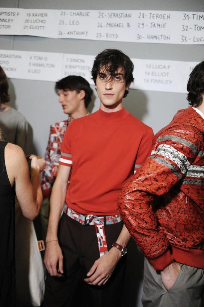 Hermès SS16 Men backstage by Elise Toïdé / Crash Magazine