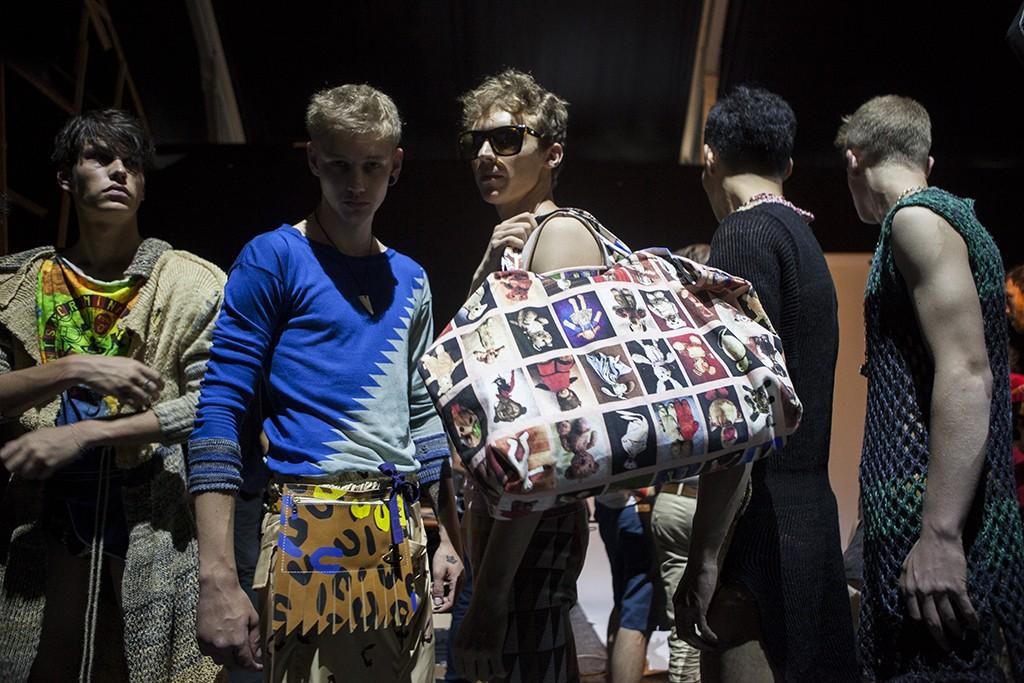 Vivienne Westwood men Spring-Summer 2016 Milan Fashion Week backstage by Tassili Calatroni / Crash Magazine