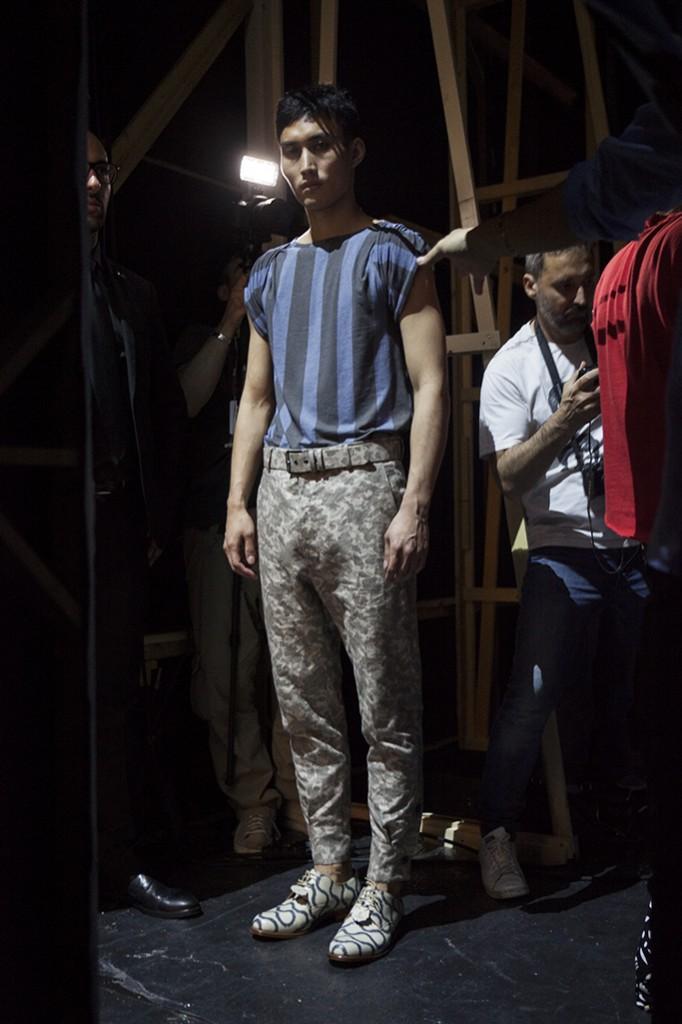 Vivienne Westwood/men Spring-Summer 2016 Milan Fashion Week backstage by Tassili Calatroni / Crash Magazine