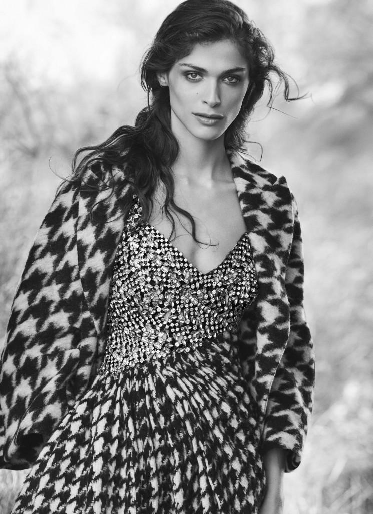 ElisaSednaoui for Ermanno Scervino fall-winter 2015 campaign by Peter Lindbergh_Crash Magazine