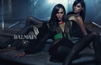 Balmain FW15 campaign Olivier Rousteing Joan Smalls Erika Smalls