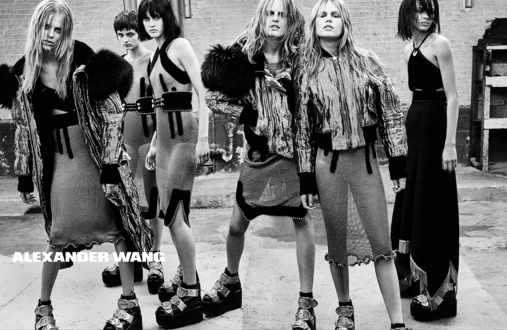 Alexander Wang FW15 Campaign by Steven Klein_Crash Magazine Anna Ewers, Molly Blair, Binx Walton, Lexi Boling, Hanne Gaby Odiele,  Sarah Brannon, Isabella Emmack, Singer Alice Glass, dancers AyaBambi