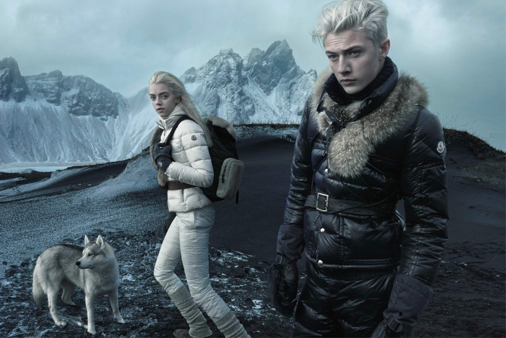 Moncler FW15 Campaign by Annie Leibovitz_Crash Magazine_Lucky Blue Smith and Pyper Smith
