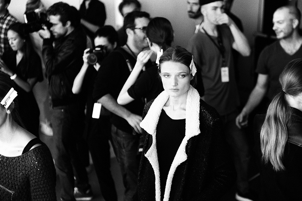 AnthonyVaccarello SS16 backstage pictures by our photographer Elise Toidé