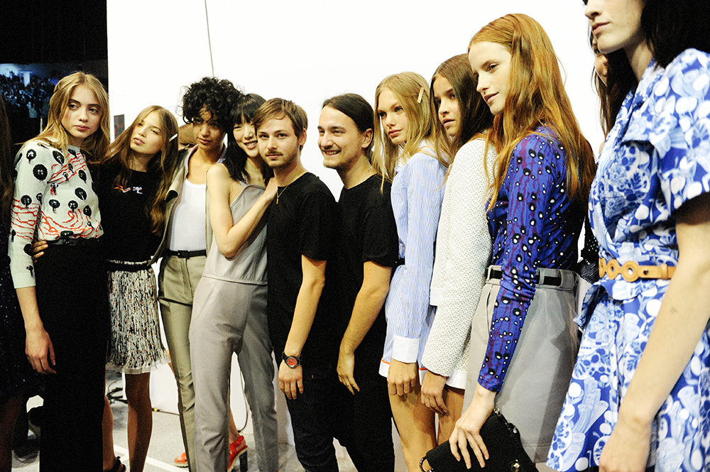 Backstage at Carven SS16 Paris Fashion Week Crash Magazine Alexis Martial Adrien Caillaudaud by Elise Toïdé