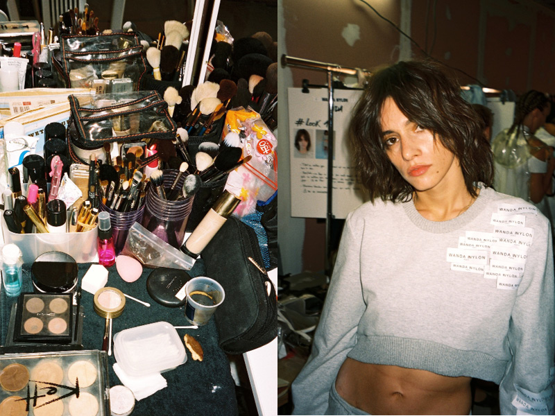Backstage at WandaNylon SS16 Paris Fashion Week Crash Magazine