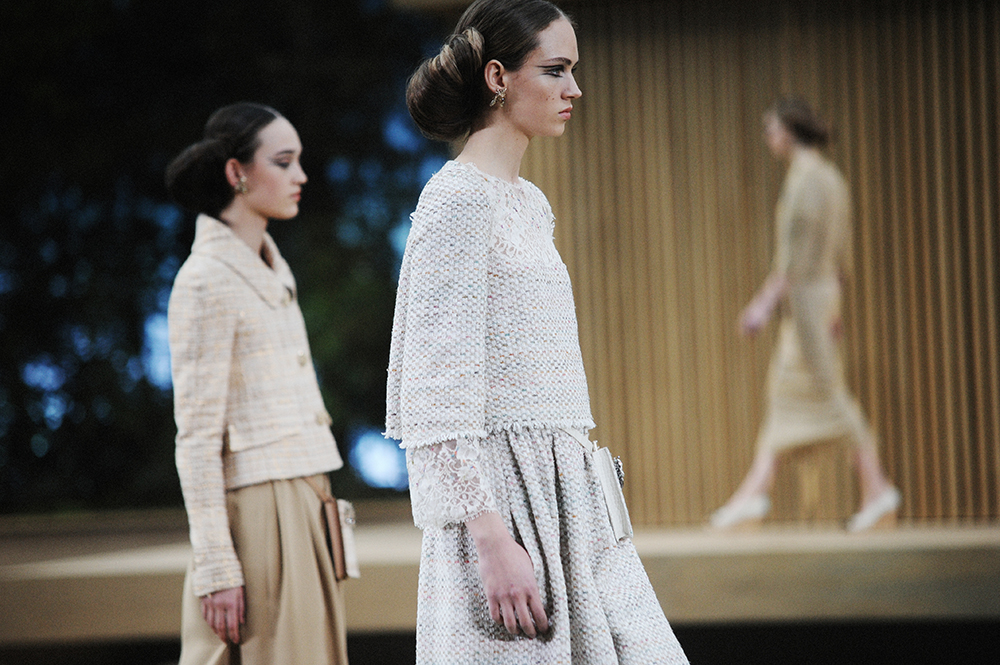 ON THE RUNWAY AT CHANEL HAUTE COUTURE SPRING-SUMMER 2016 PARIS
