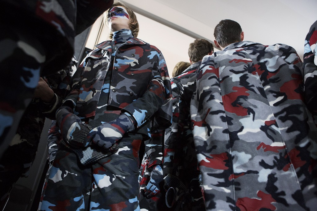Backstage at Moncler Gamme Bleu FW16 menswear Milan Men Fashion Week Crash Magazine by Tassili Calatroni