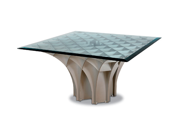 Design Miami/ Basel Cathedral Table by Pierre Paulin 1981 at Demisch Danant