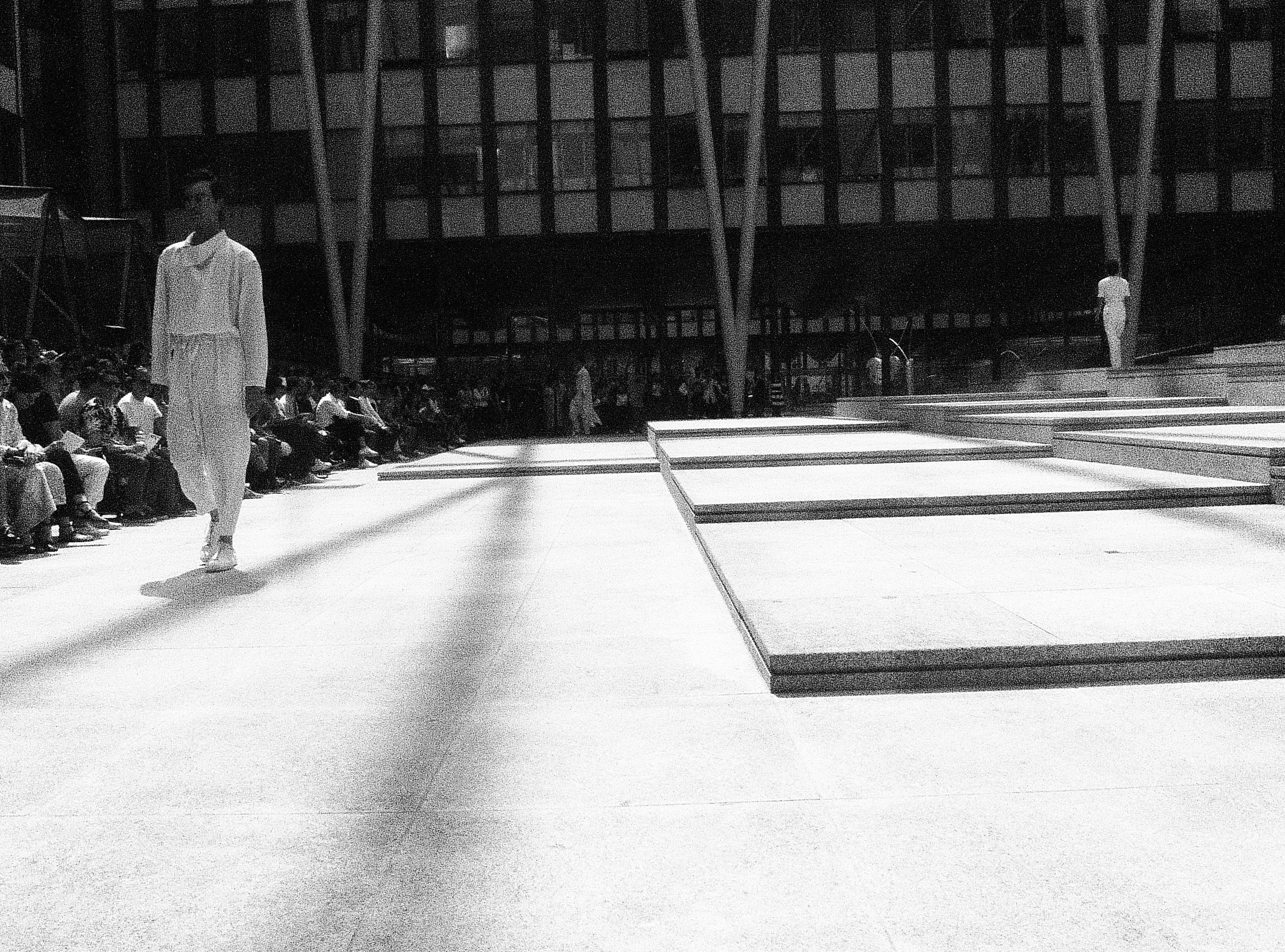 On the runway at Issey Miyake Men SS17 Paris