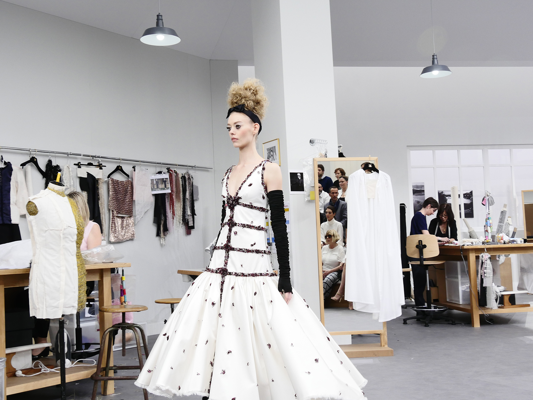 ON THE RUNWAY AT CHANEL HAUTE COUTURE FALL-WINTER 2016 PARIS