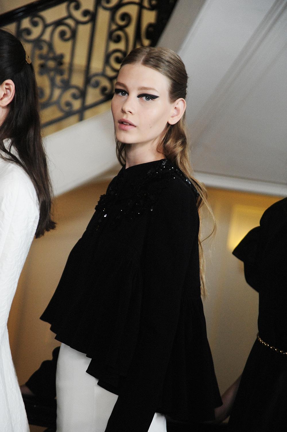 Backstage at Christian Dior Haute Couture FW16 Paris