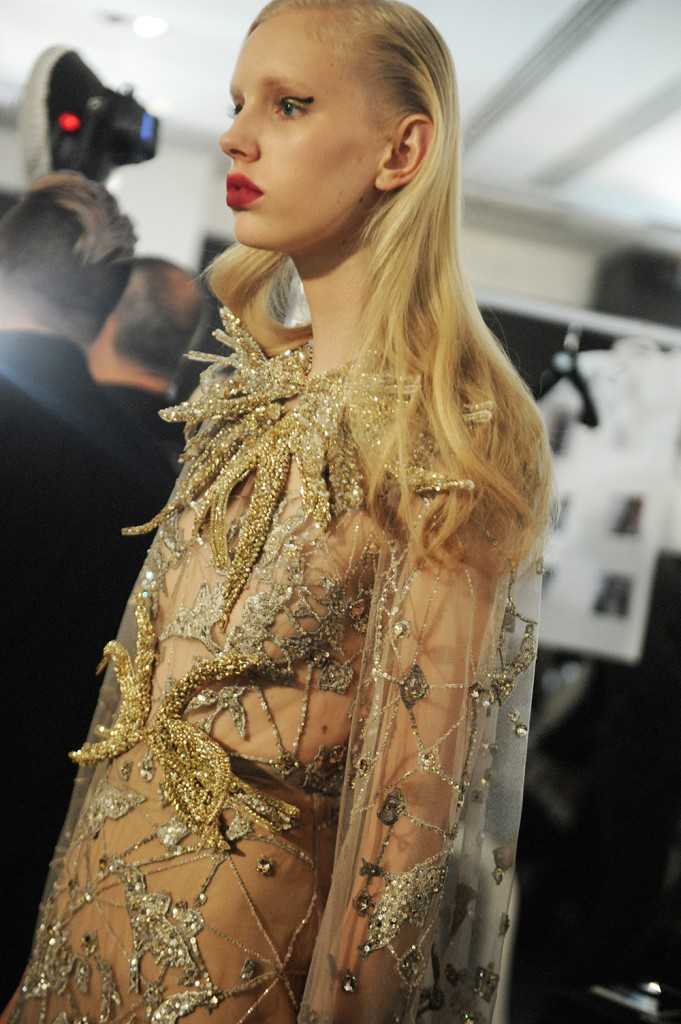 Elie Saab haute Couture AW16 Jessie Bloemendaal - Crash magazine