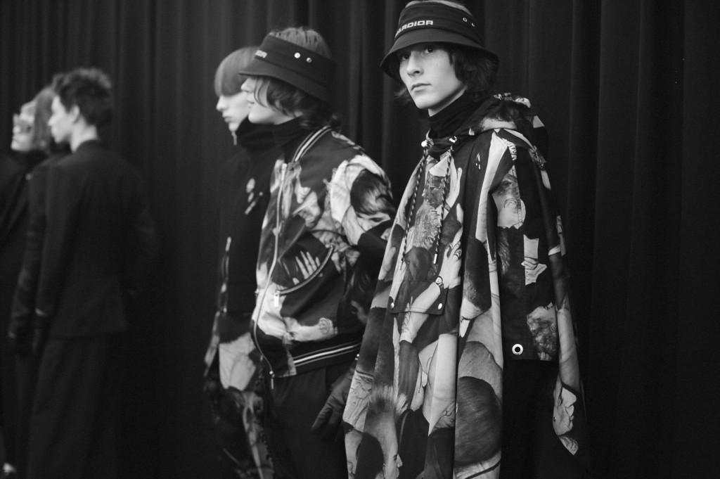 Backstage at Dior Homme Fall Winter 2017/18 fashion show Crash Magazine