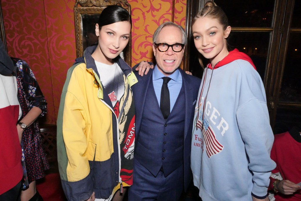 2Bella Hadid, Tommy Hilfiger and Gigi Hadid at Laperouse 2