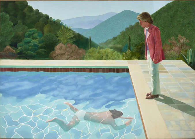 Portrait d'un artiste (Piscine avec deux personnages), 1972, acrylic on canvas 214 x 305 cm © David Hockney Photo : Art Gallery of New South Wales / Jenni Carter