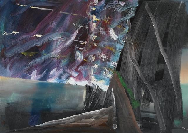 Gerhard Richter at Galerie Von Vertes Abstraktes Bild (562-2), 1984, Oil on canvas, 100 x 140 cm, Verso signed, dated and numbered '562-2'
