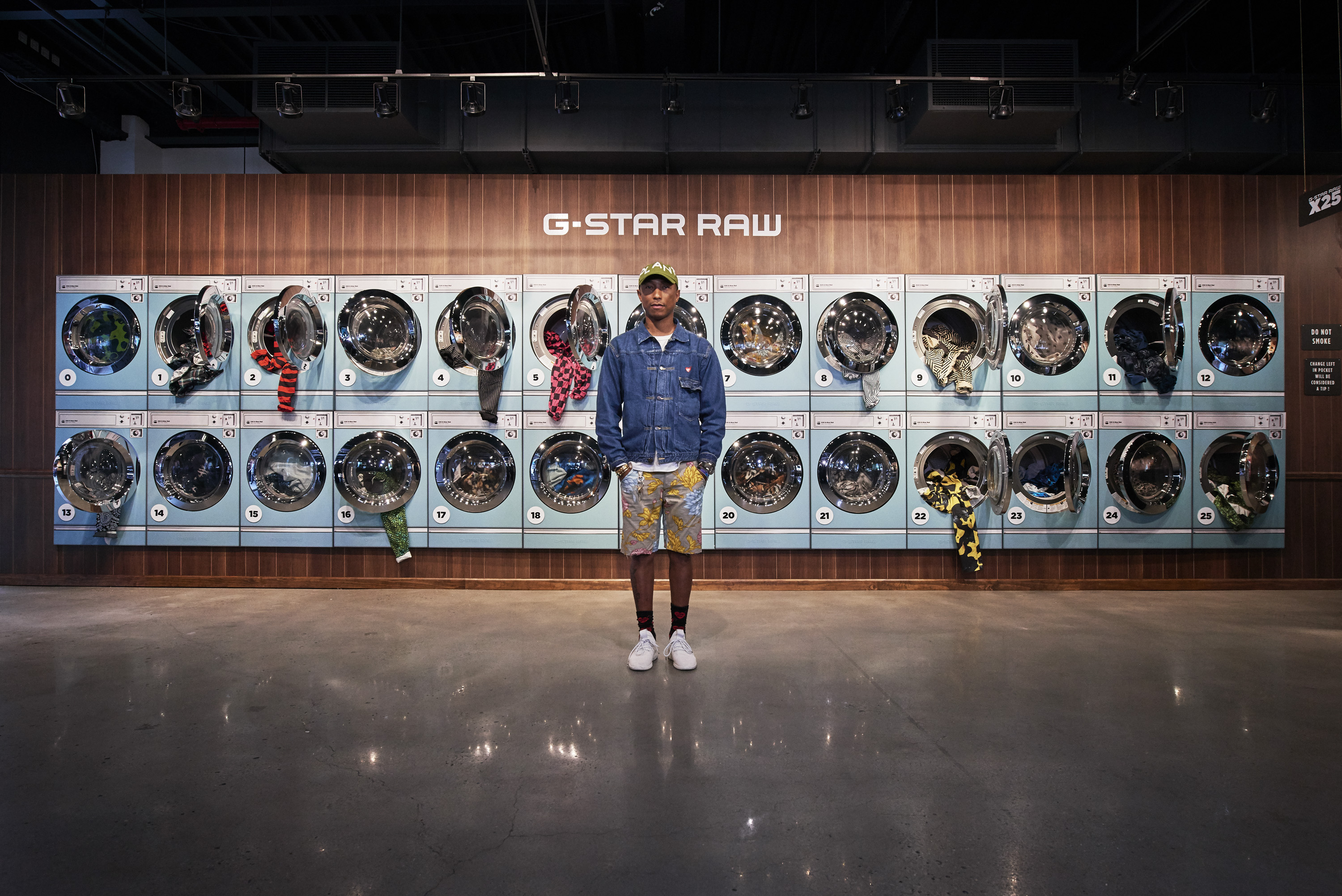 PHARRELL WILLIAMS PRESENTED IN N.Y HIS NEW CREATIONS FOR G-STAR RAW