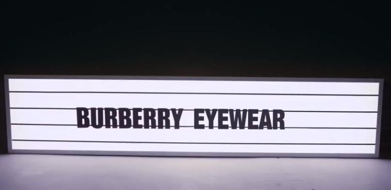THE TRENDS / BURBERRY EYEWEAR / LIVE