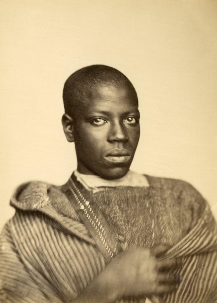 Gustave de BEAUCORPS (Rochefort 1825-Nice 1906 ) [attribué à] Jeune noir de Tanger de face Vers 1859