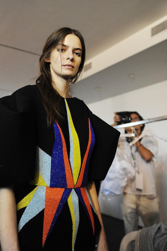 Dice Kayek Haute Couture FW15 backstage Elise Toïdé for Crash Magazine