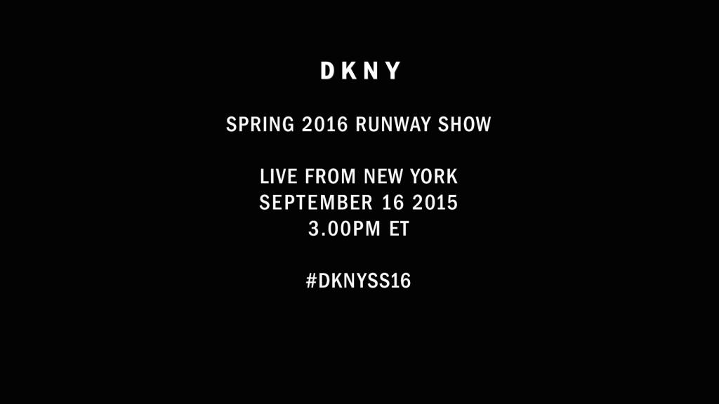 DKNY Spring 2016 show New York live steam