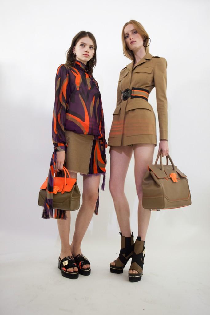 Backstage Versace SS16 women Milan Fashion Week Crash Magazine