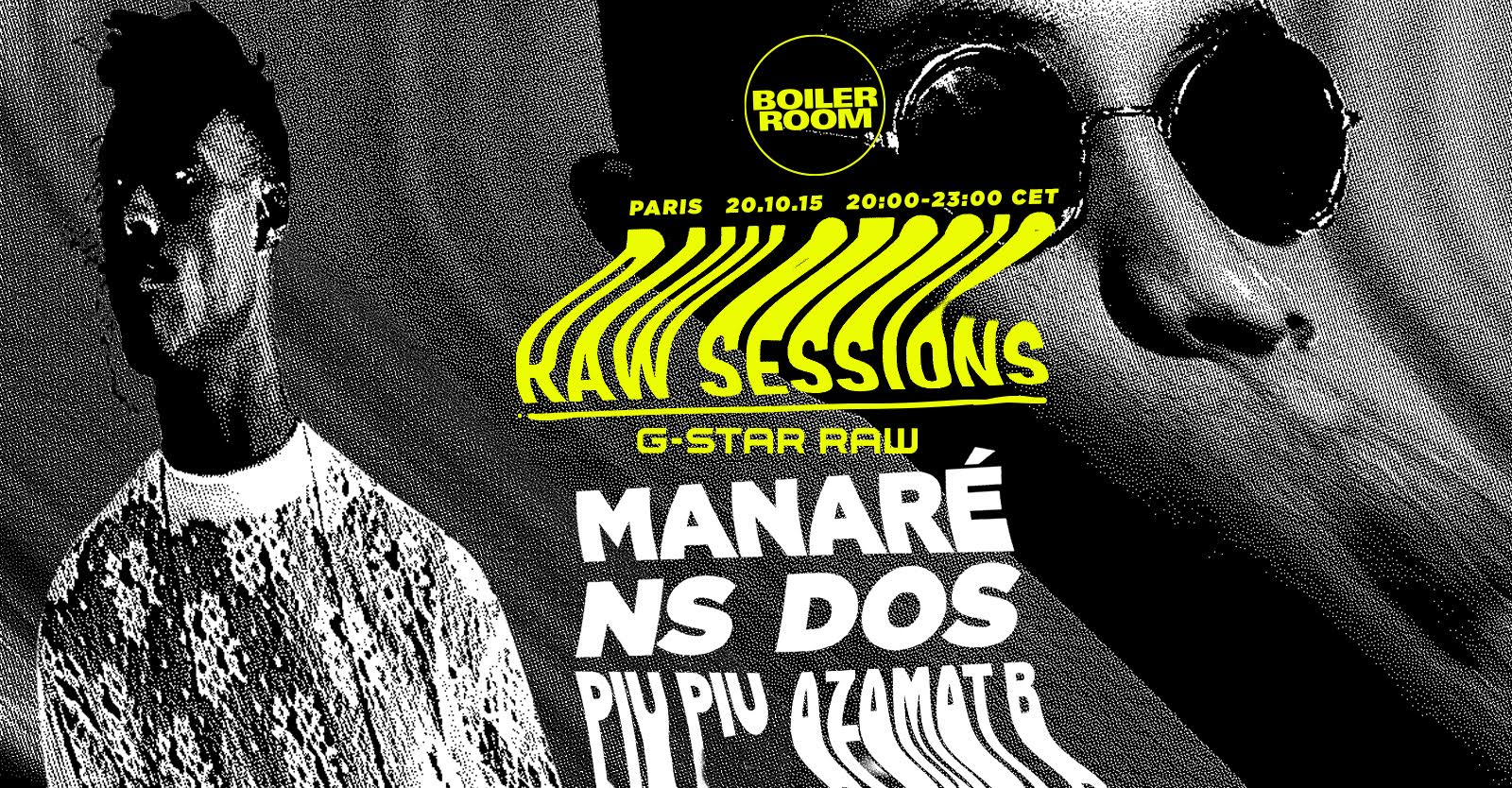 G-STAR PRESENTS THE BOILER ROOM RAW SESSIONS