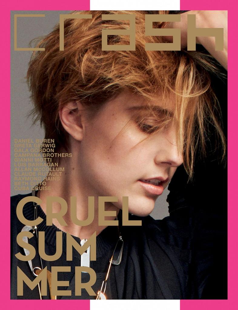 CRASH 76 Greta Gerwig special cover project by Daniel Buren Crash Magazine Summer issue