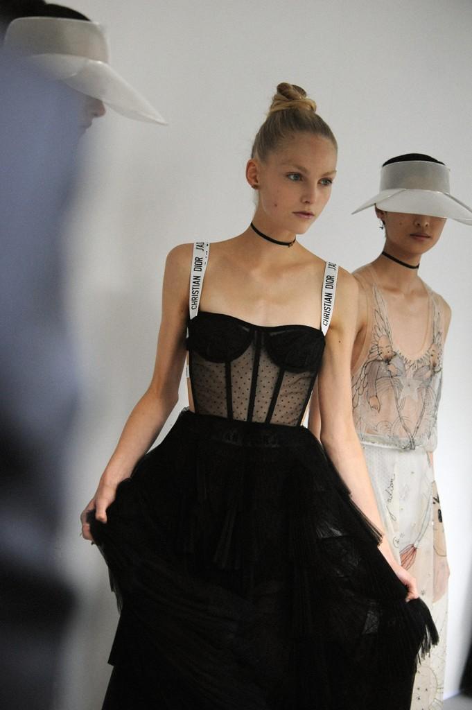Dior SS17 Backstage Maria Grazia Chiuri Paris Fashion Week Crash Magazine Elise Toïdé
