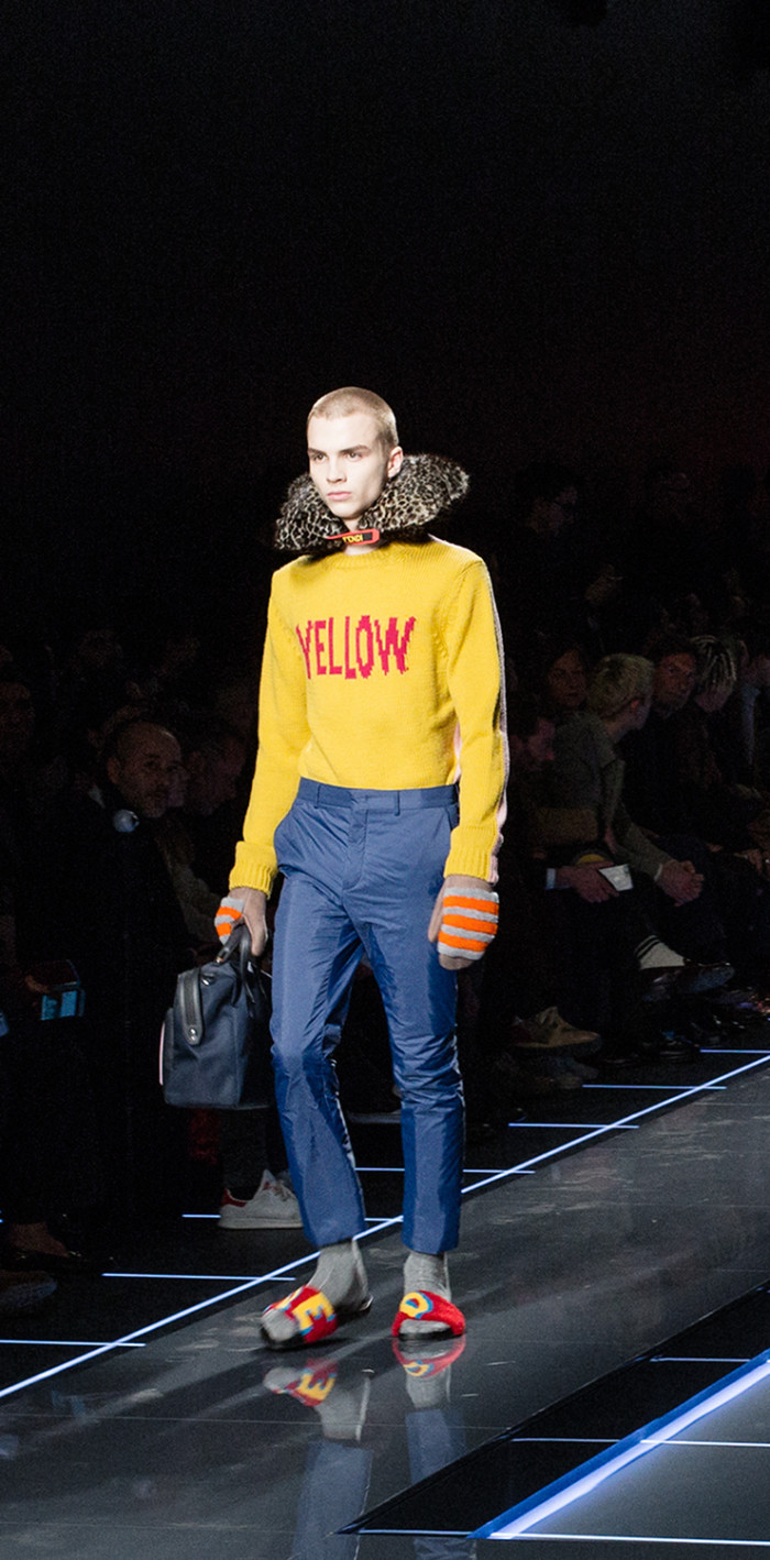 Fendi Fall Winter 20/20 Men's Fashion Show   Crash