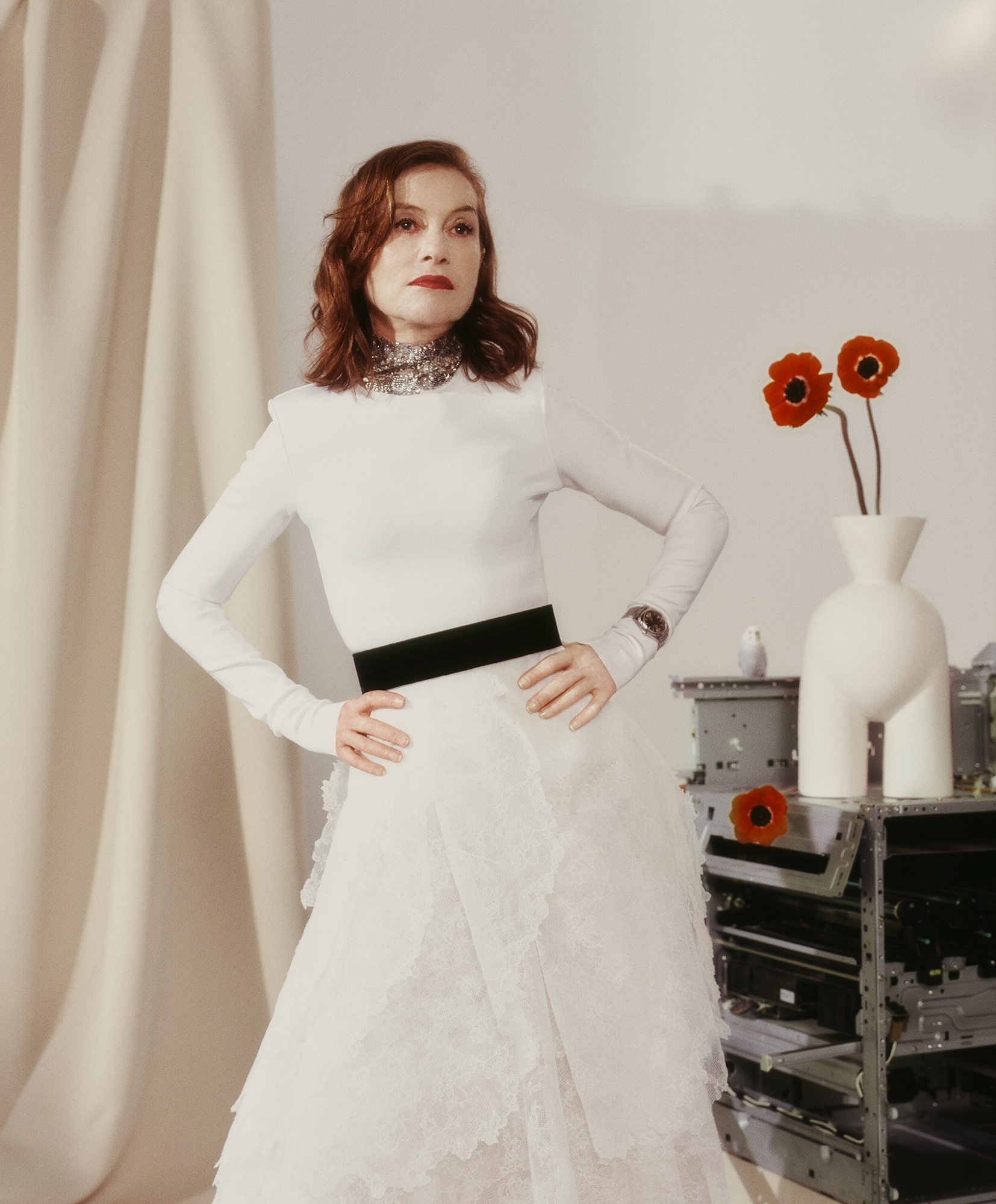 Isabelle Huppert - Givenchy Haute Couture for Crash Magazine
