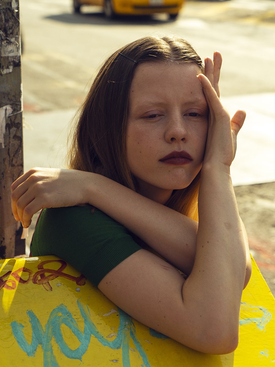 Mia Goth in Prada - Crash Magazine interview