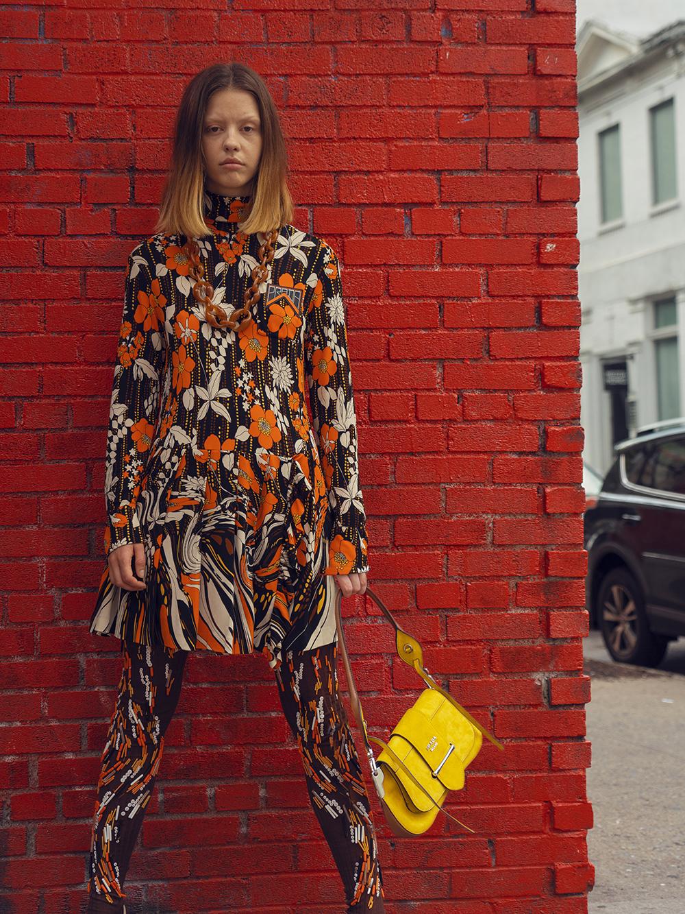 Mia Goth in Prada Dress - Crash Magazine interview