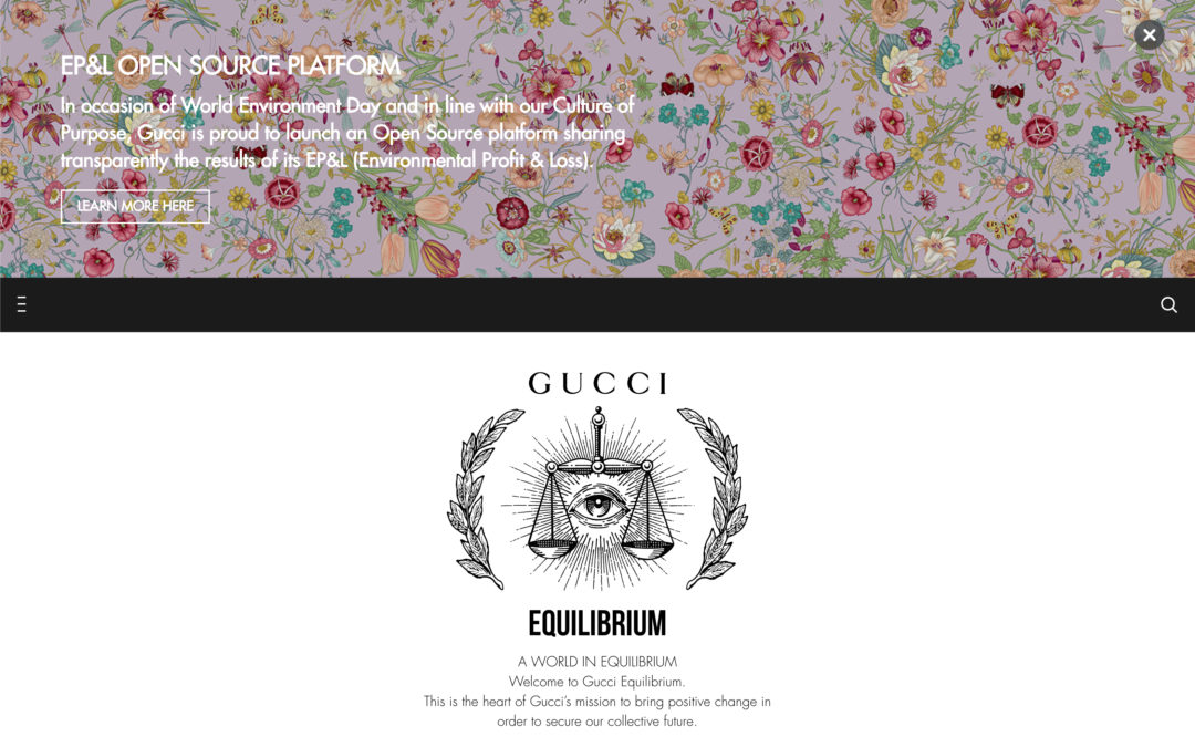 GUCCI SHARES ITS ECO-CONSCIOUS VALUES