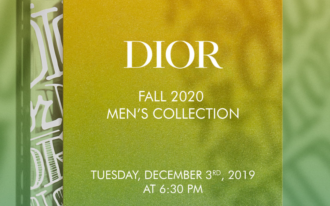 DIOR MEN'S FALL 2020 LIVESTREAM