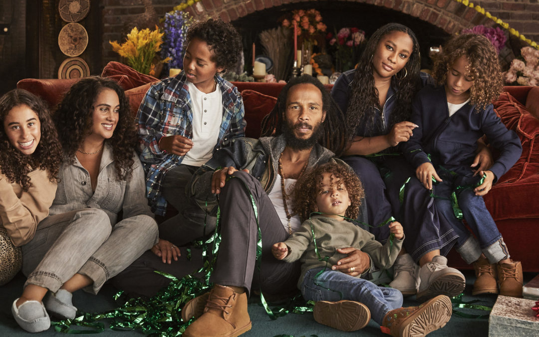 ZIGGY MARLEY AND HIS FAMILY FOR THE UGG CHRISTMAS CAMPAIGN