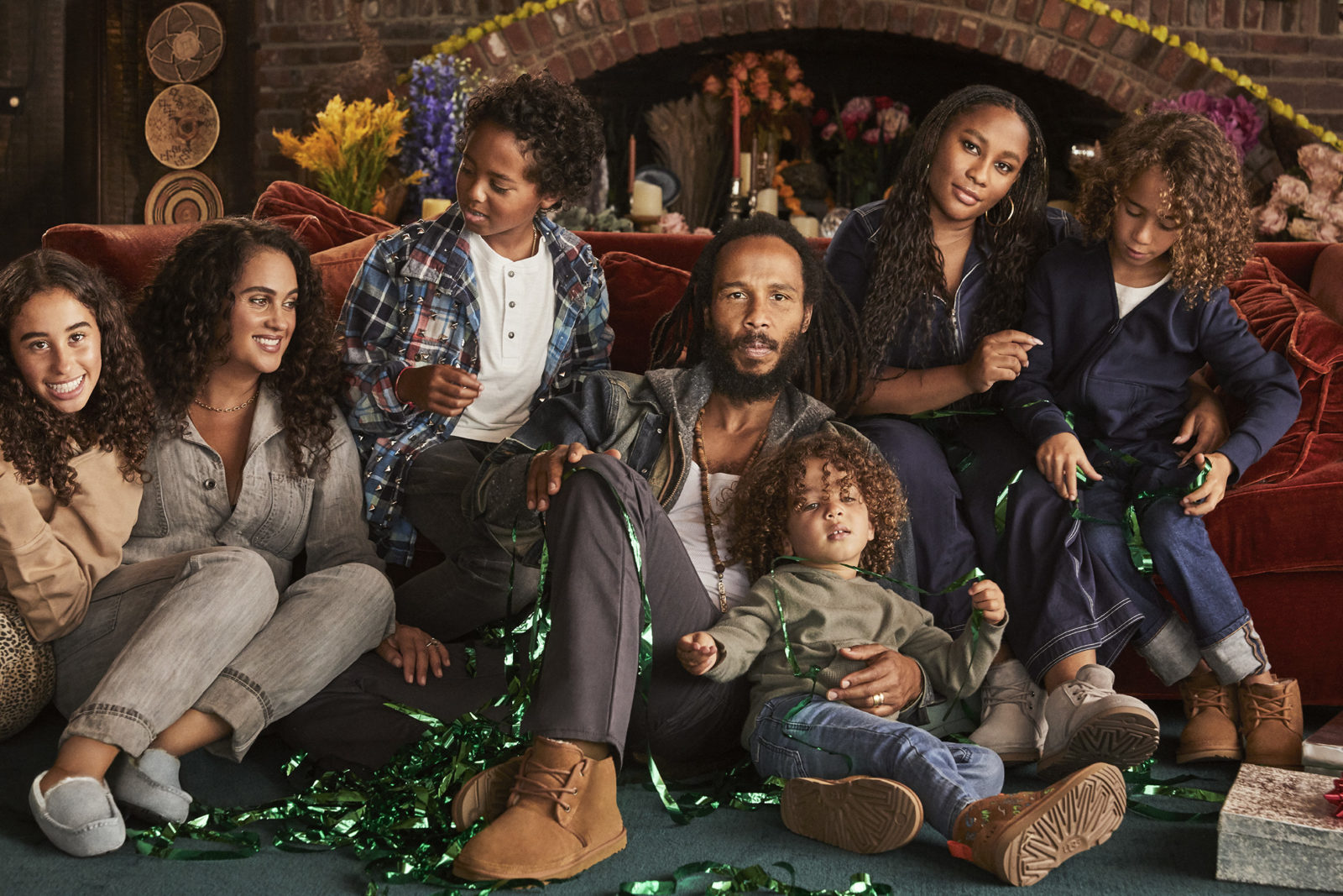 Ziggy Christmas 2020 ZIGGY MARLEY AND HIS FAMILY FOR THE UGG CHRISTMAS CAMPAIGN   CRASH