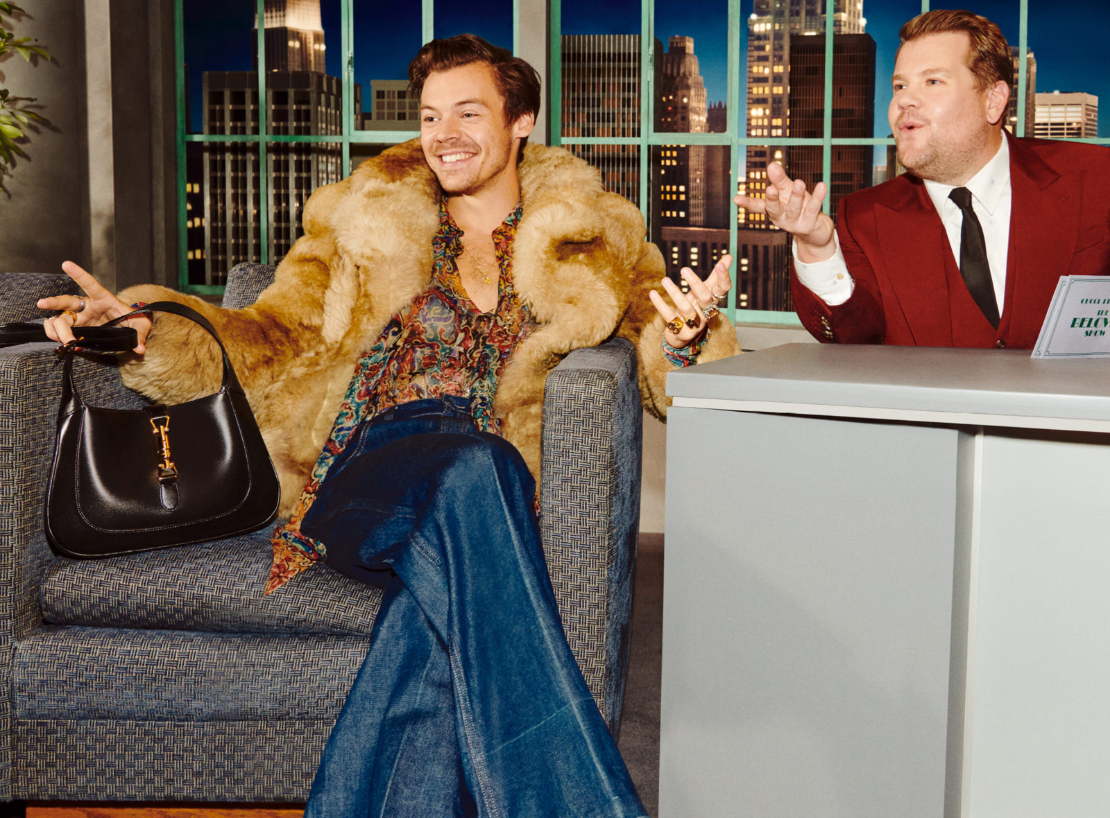 Harry Styles & James Corden on the Beloved Gucci Show by Alessandro Michele