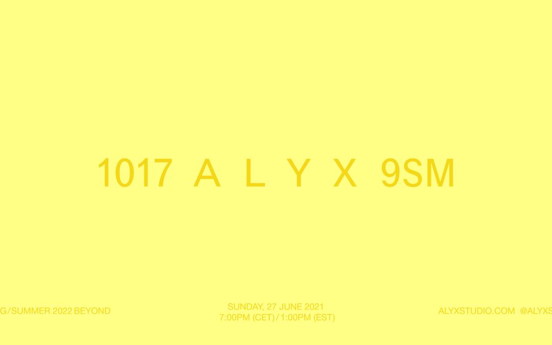 1017 ALYX 9SM SPRING SUMMER 2022