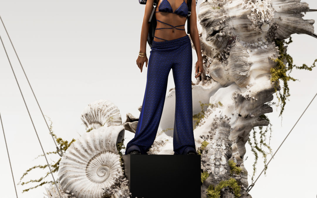 BURBERRY COLLECTION TB SUMMER MONOGRAM WITH NAOMI CAMPBELL